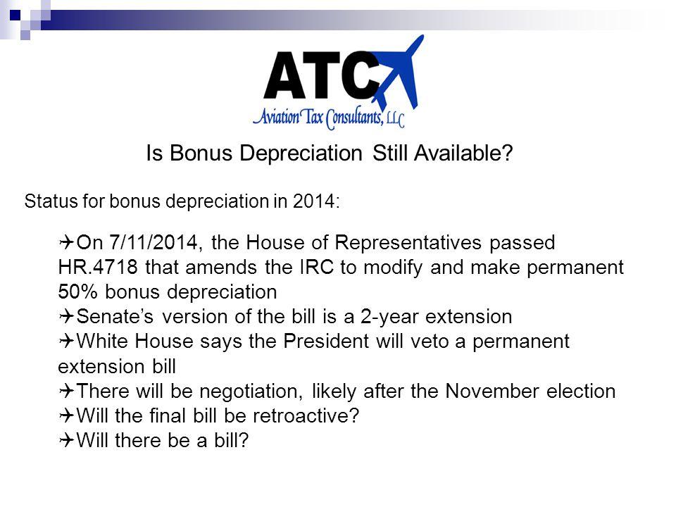 Is Bonus Depreciation Still Available.