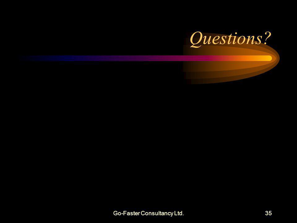 Go-Faster Consultancy Ltd.35 Questions?