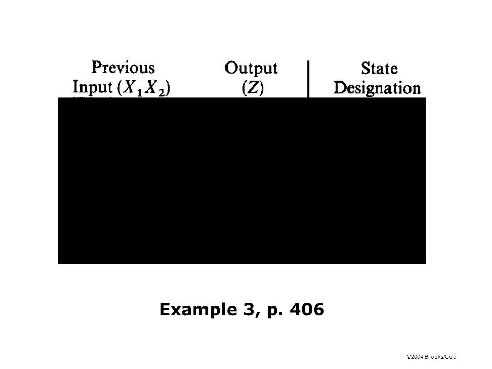 ©2004 Brooks/Cole Example 3, p. 406
