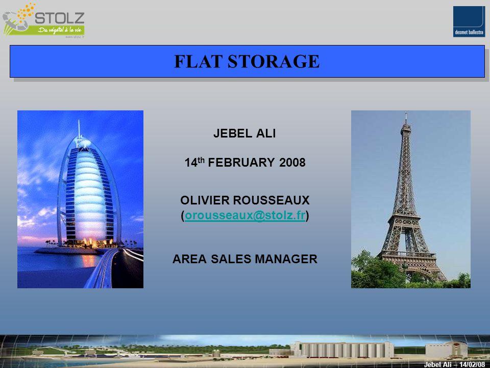 B] AUTOMATED FLAT STORAGE : Recycling Jebel Ali – 14/02/08