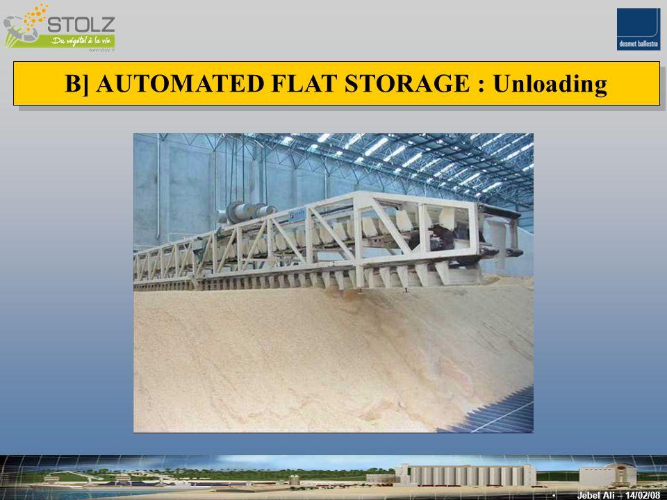 B] AUTOMATED FLAT STORAGE : Unloading Jebel Ali – 14/02/08