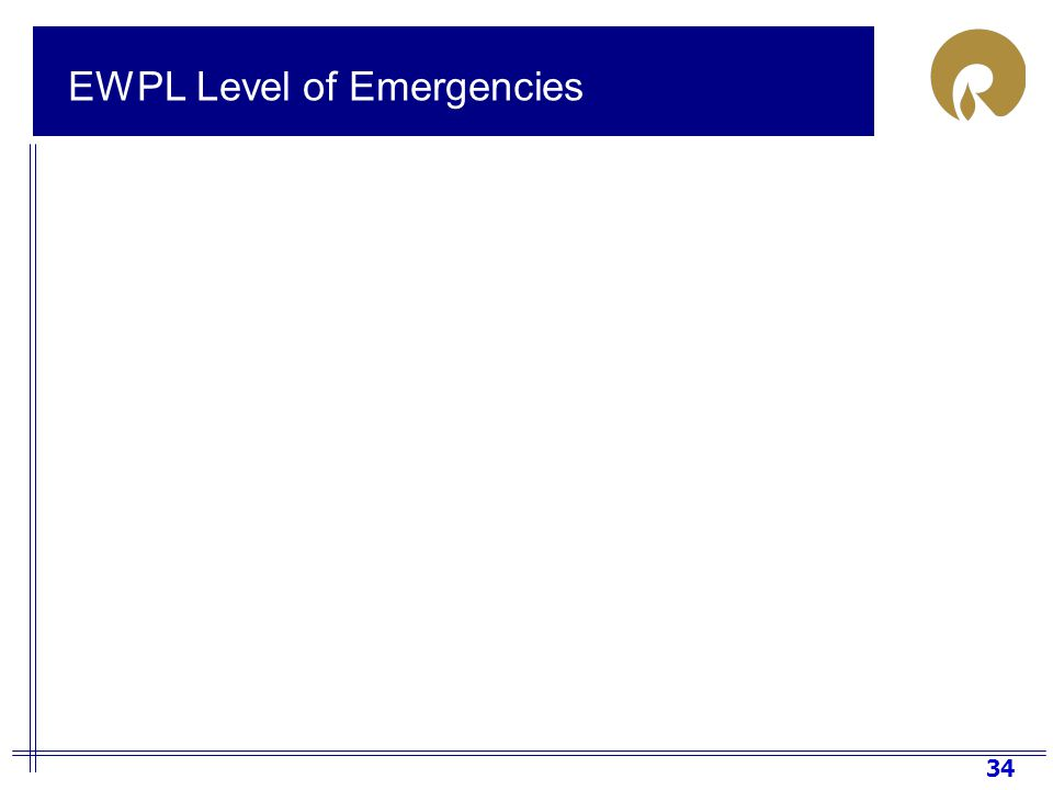 34 EWPL Level of Emergencies