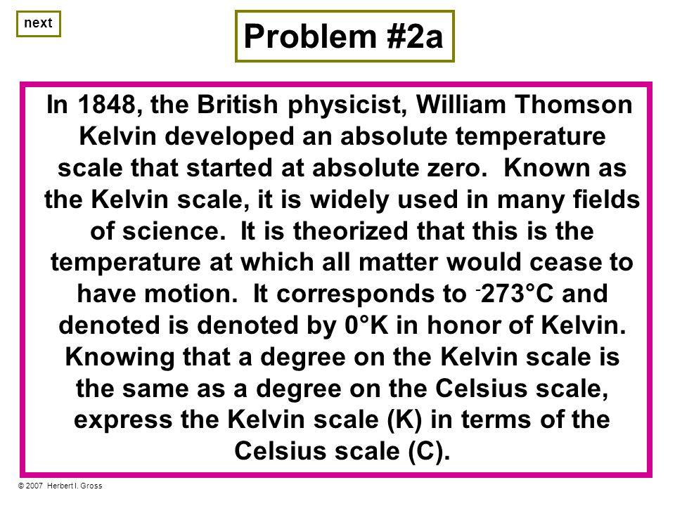 Problem #2b © 2007 Herbert I.