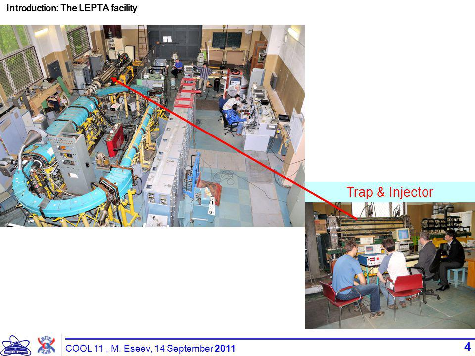 4 Introduction: The LEPTA facility Trap & Injector COOL 11, M. Eseev, 14 September 2011