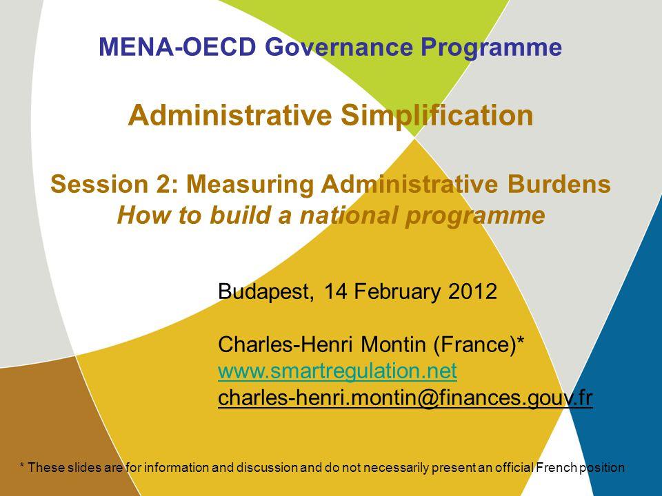 MENA-OECD WG4 Budapest, 14 February 2012 12 5.
