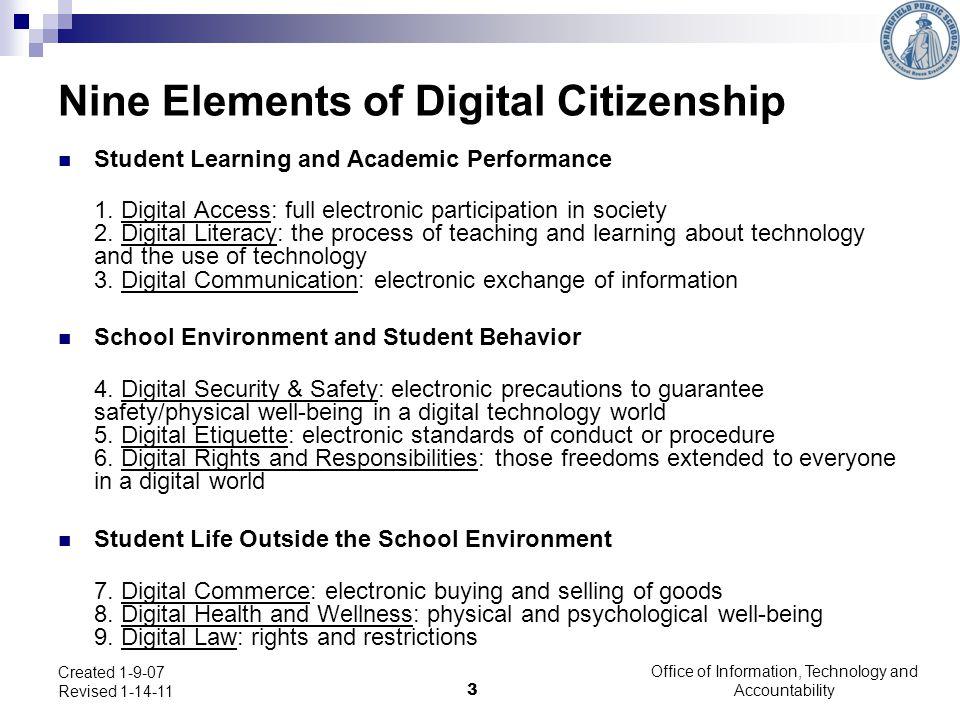 Digital Citizenship Links: www.digitalcitizenship.net www.digitalcitizenshiped.com/Curriculum.a spx www.digitalcitizenshiped.com/Curriculum.a spx www.netsmartz.org http://cybersmart.org/ www.bpscybersafety.org/index.html www.staysafeonline.info/ Created 1-9-07 Revised 1-14-11 4 Office of Information, Technology and Accountability
