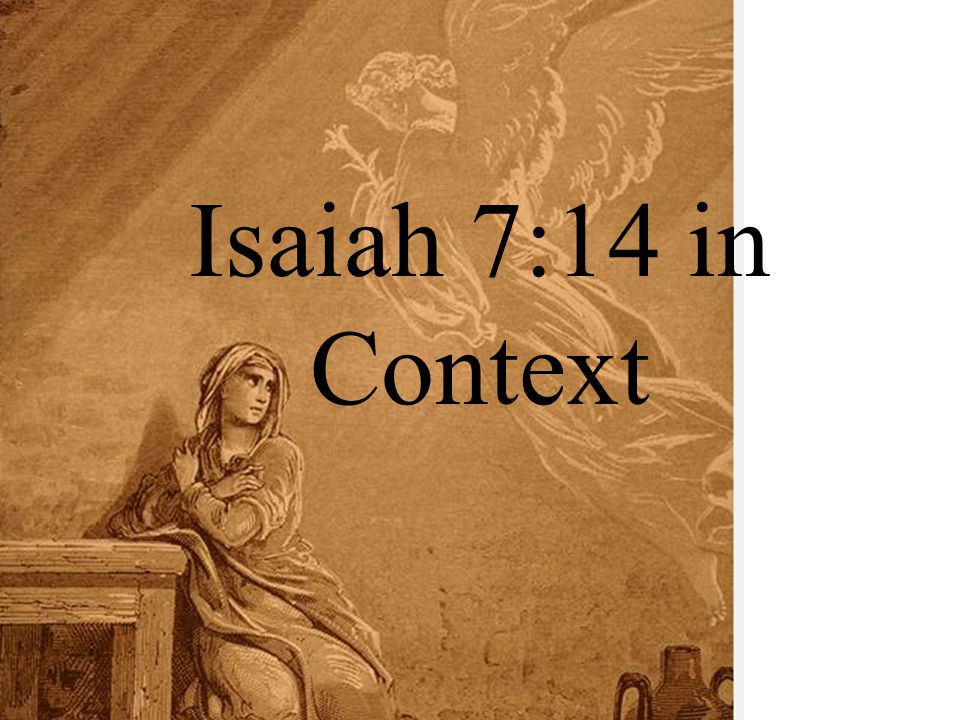 Isaiah 7:14 in Context