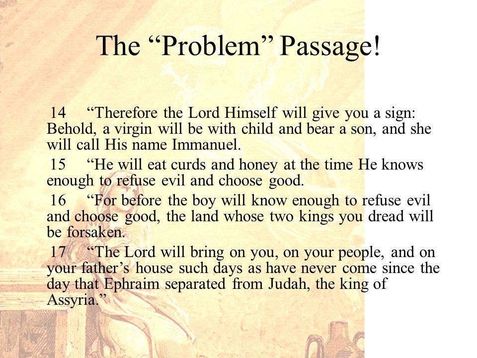 The Problem Passage.