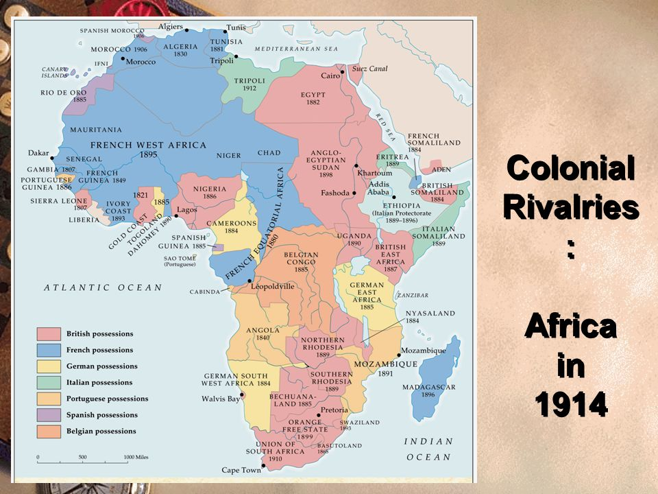 Imperialism  All the great powers were competing for colonies / territory.