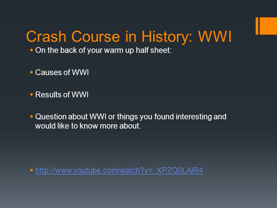 WWI Unit Essential Question: What causes conflict.
