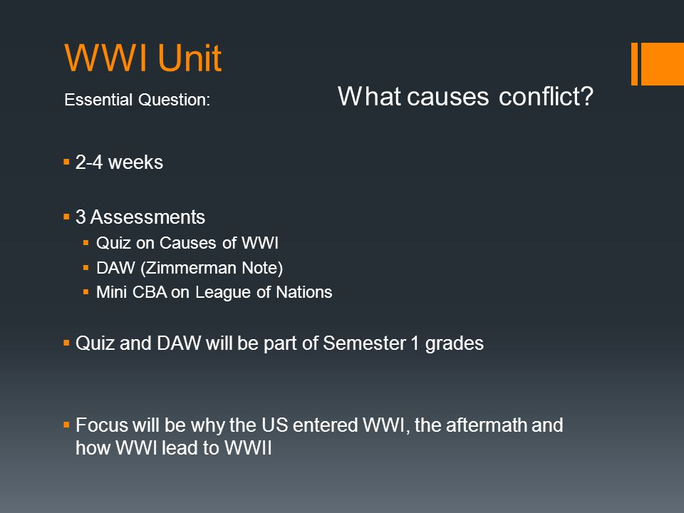 US History January 15, 2014Mr. Davolt On a half sheet of paper Warm Up: Why did WWI start and what was everyone fighting over? (based on the video fro