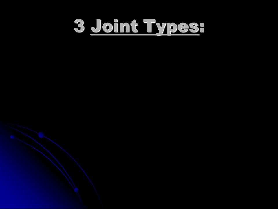 Joint articulations between bones. Allow fexibilty.