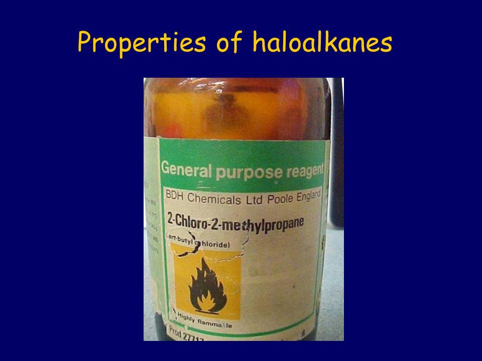 Properties of haloalkanes