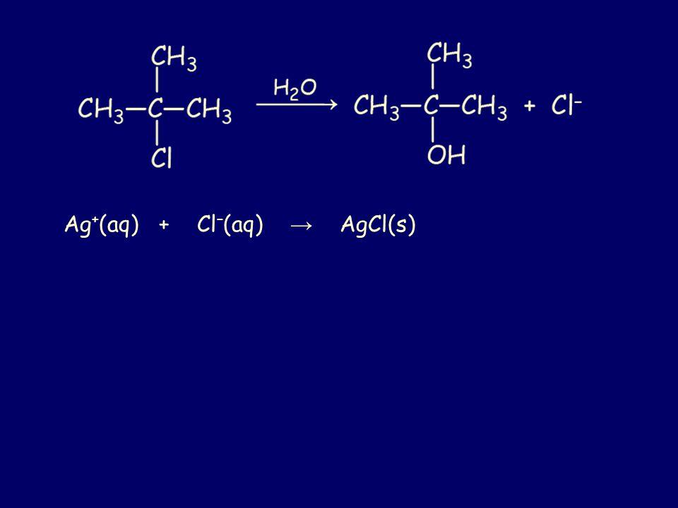 Ag + (aq) + Cl – (aq) → AgCl(s)