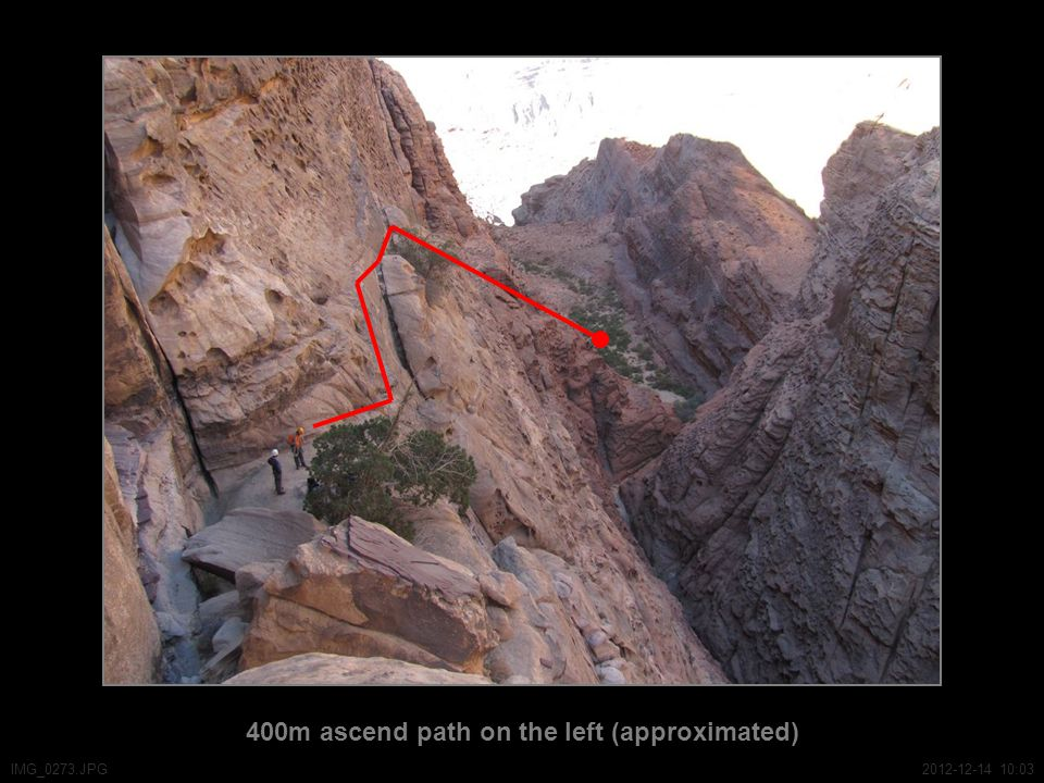 400m ascend path on the left (approximated) IMG_0273.JPG2012-12-14 10:03