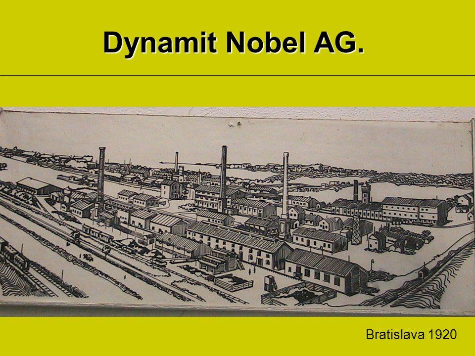 Dynamit Nobel AG. Bratislava 1920