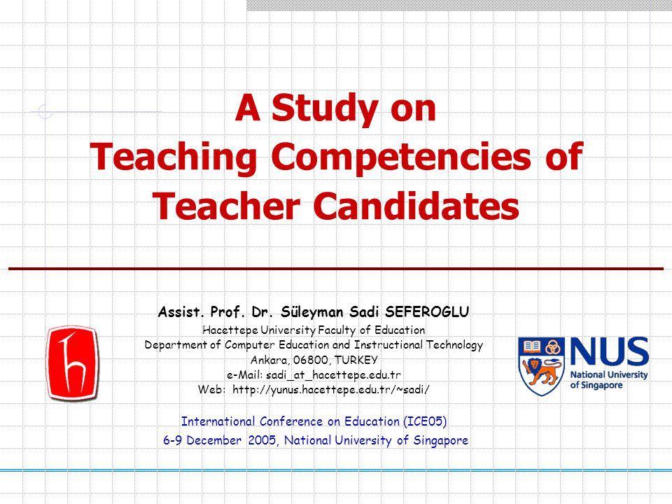A Study on Teaching Competencies of Teacher Candidates Assist.