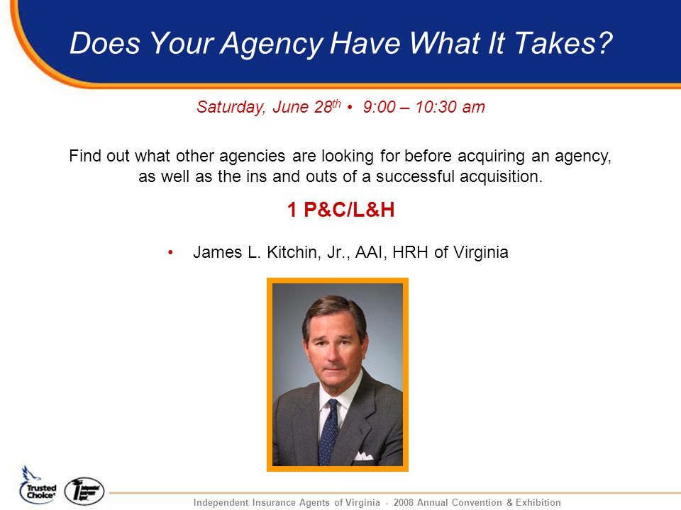 Does Your Agency Have What It Takes. James L.