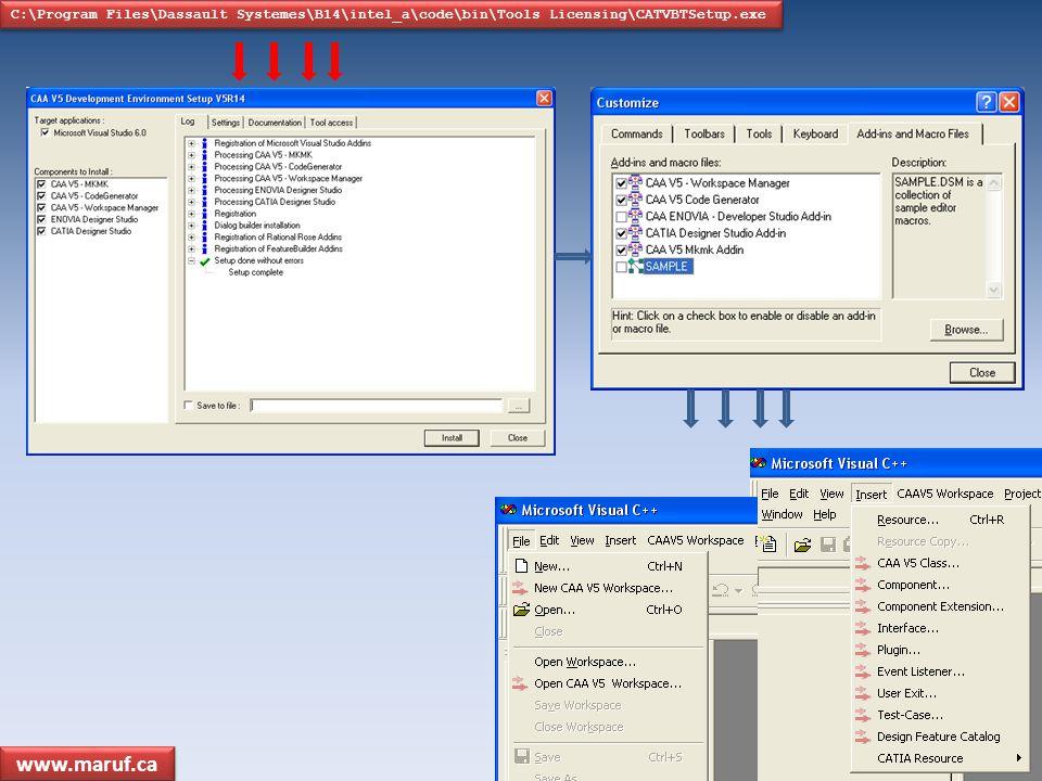 C:\Program Files\Dassault Systemes\B14\intel_a\code\bin\Tools Licensing\CATVBTSetup.exe www.maruf.ca