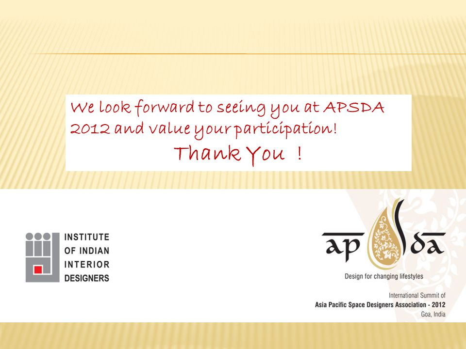 We look forward to seeing you at APSDA 2012 and value your participation! Thank You !