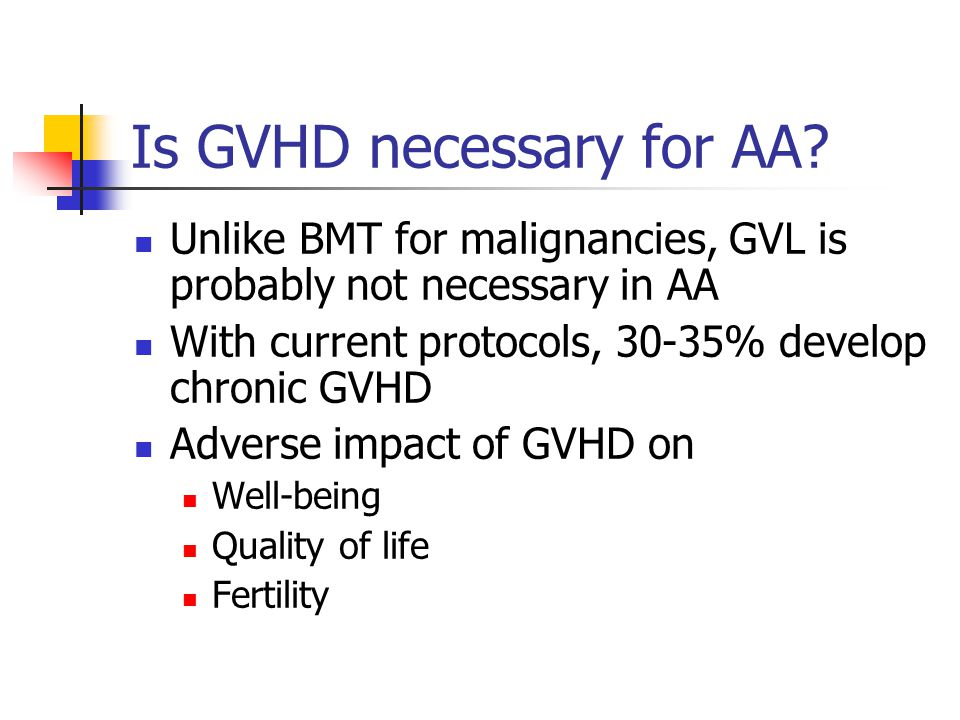 Is GVHD necessary for AA.
