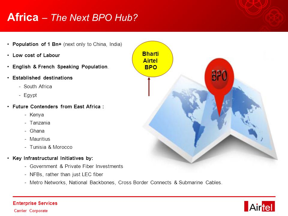 Enterprise Services Carrier Corporate Africa – The Next BPO Hub.
