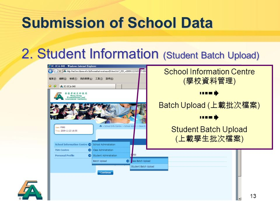13 Submission of School Data 2.