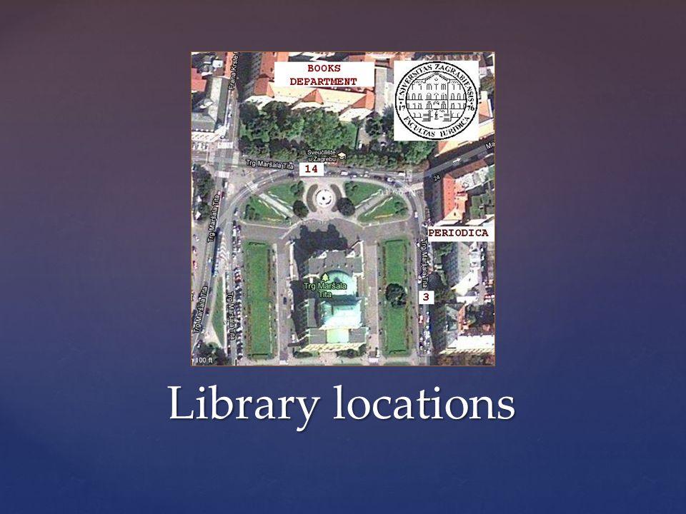 Library locations ČASO PISI