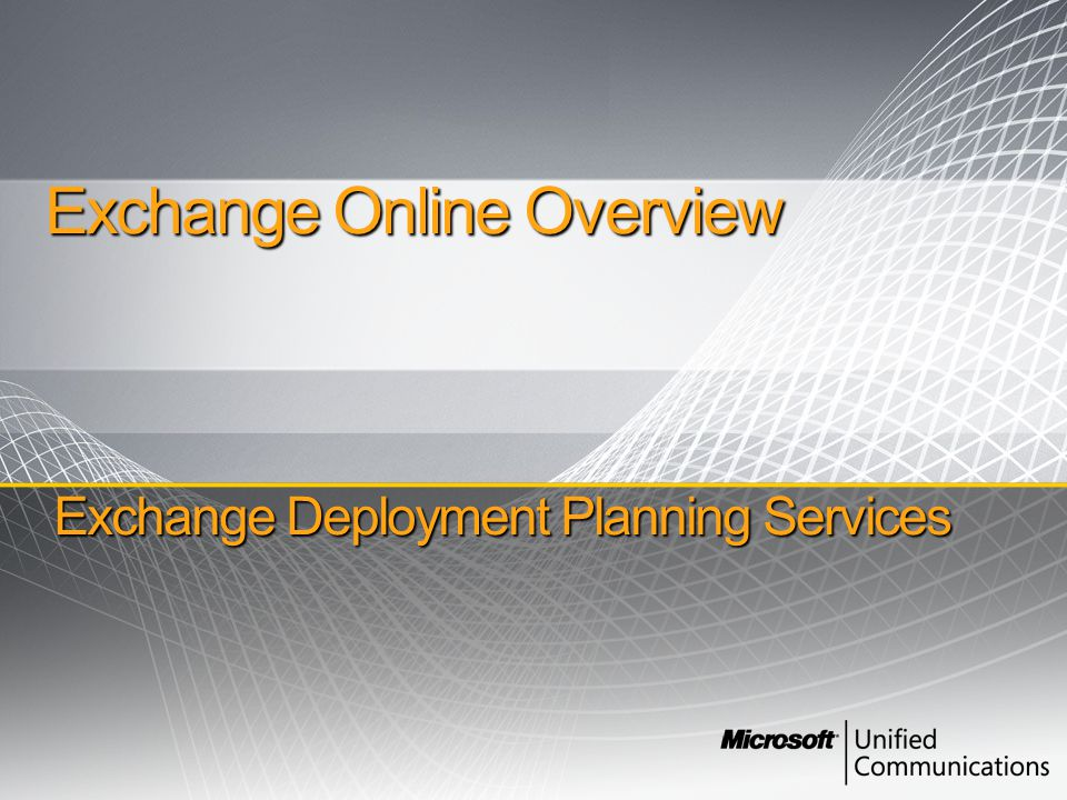 Deployment Flexibility How coexistence works All users share the same e-mail domain name Inbound e-mail routes to on-premises server first and then to Online Directory Sync provides consistent user experience Wizard-based setup process simplifies deployment