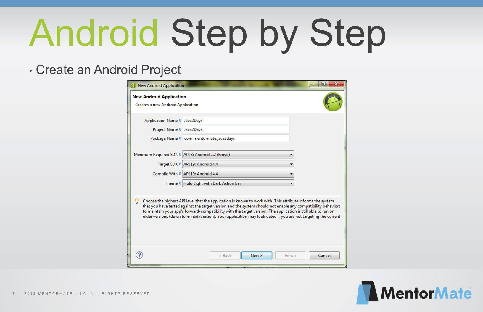 7 Android Step by Step Create an Android Project