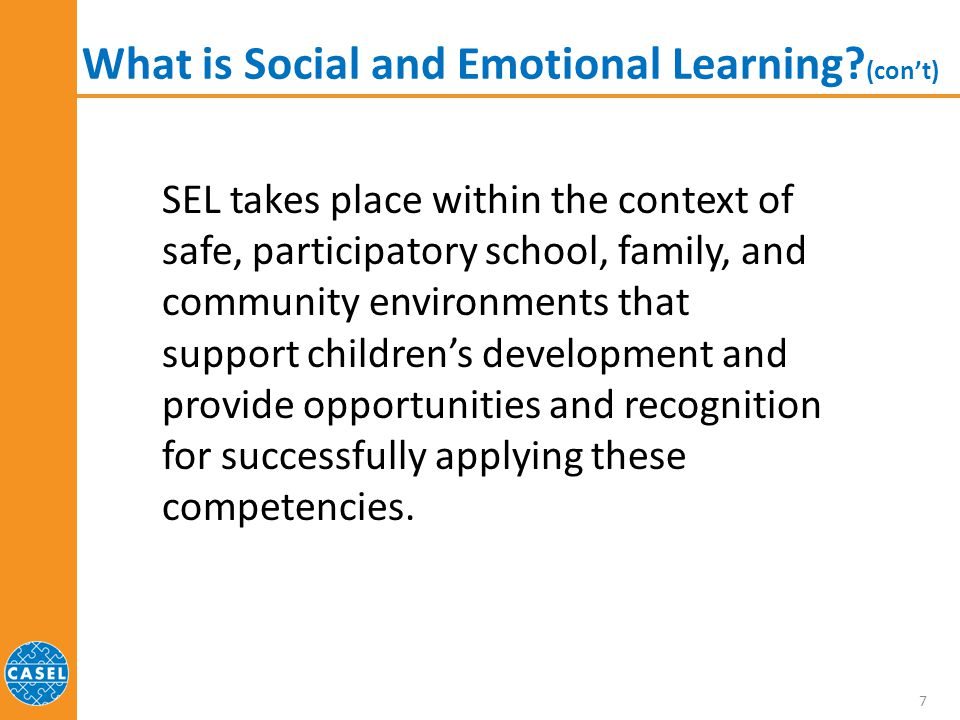 SEL Competencies for Students Your group will be given one of the five competencies to review.