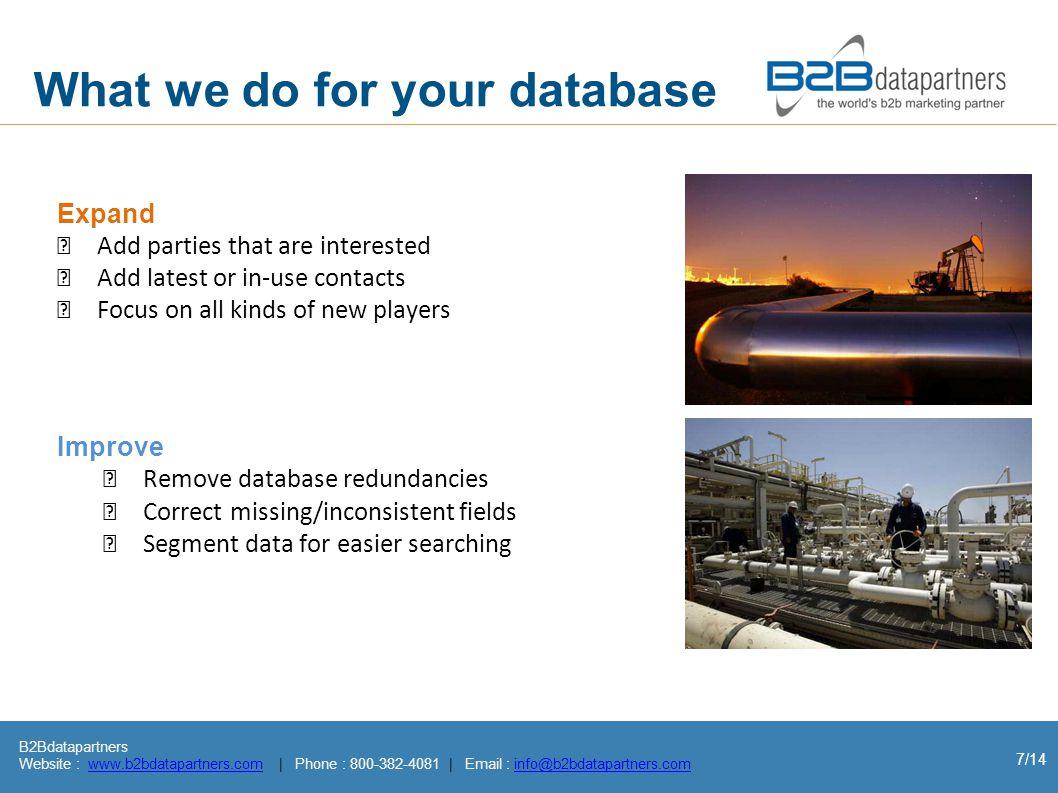 B2Bdatapartners Website : www.b2bdatapartners.com | Phone : 800-382-4081 | Email : info@b2bdatapartners.comwww.b2bdatapartners.cominfo@b2bdatapartners