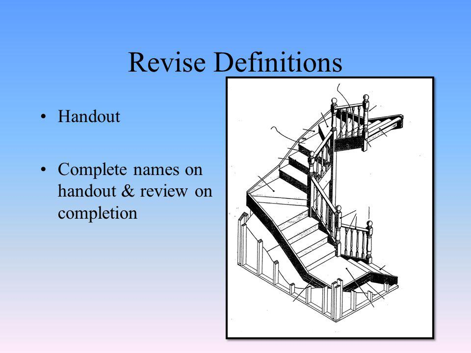 Types of Stairs Ref: Carp 18 Textbook – from P6