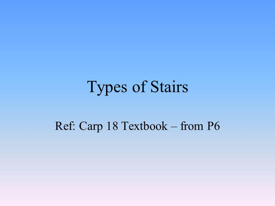 Stair calculations Review example of calculations on P31 of your textbook
