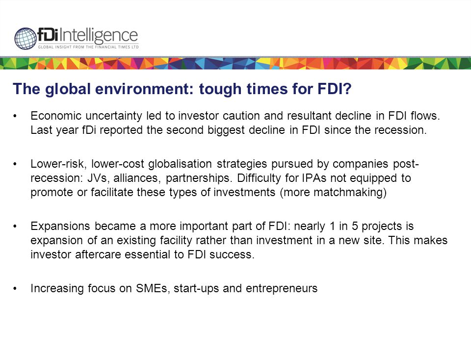 The global environment: tough times for FDI.