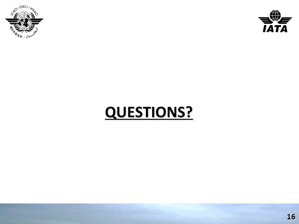 QUESTIONS?QUESTIONS? 16