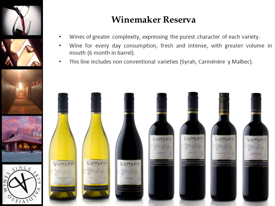Winemaker Reserva Wines of greater complexity, expressing the purest character of each variety.