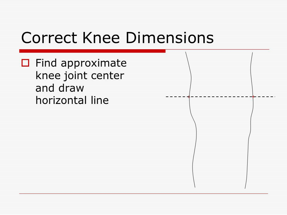 Ankle Joints and Stirrup  Project a line perpendicular to ankle axis from center of tracing down to heel thickness line  Measure out ½ the measured M-L from the orthometry form on either side of the center and mark Ankle Axis ½ measured M-L