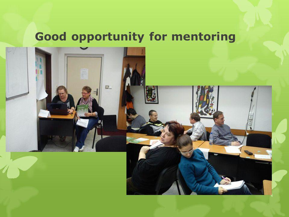 Good opportunity for mentoring