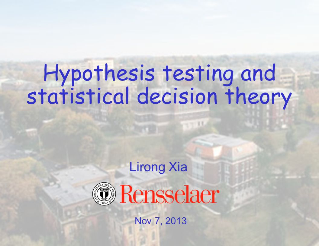 One/two-sided Z test: hypothesis tests for one sample location test (for different H 1 's) Outputs either to reject or retain the null hypothesis And defined a lot of seemingly fancy terms on the way –null/alternative hypothesis –level of significance –critical value –p-value –Type I error 11 What we have learned so far…
