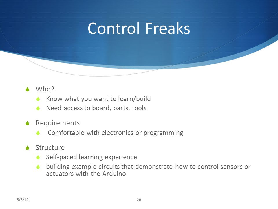 Control Freaks  Who.