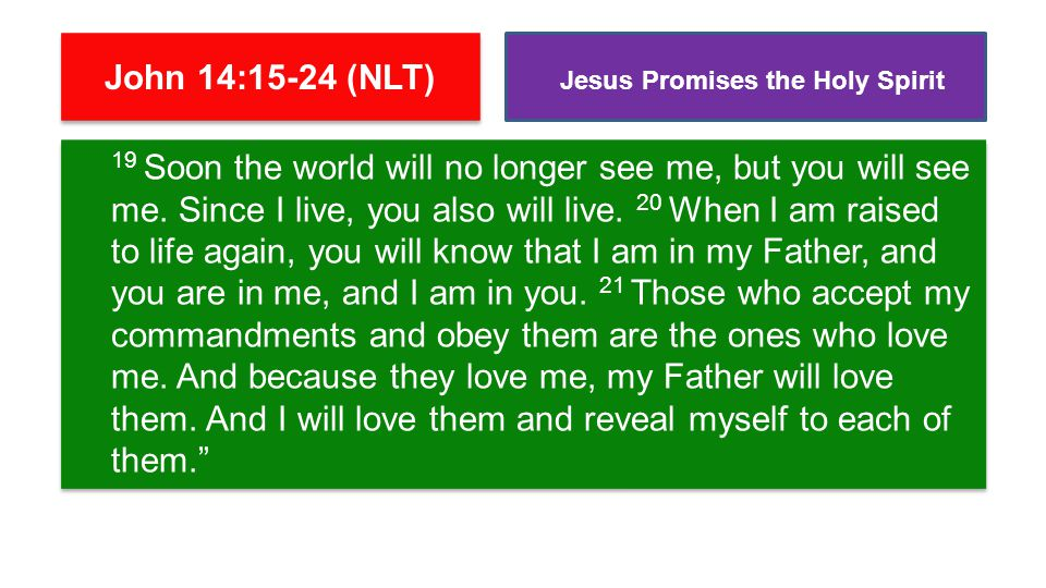 22 Judas (not Judas Iscariot, but the other disciple with that name) said to him, Lord, why are you going to reveal yourself only to us and not to the world at large? 23 Jesus replied, All who love me will do what I say.