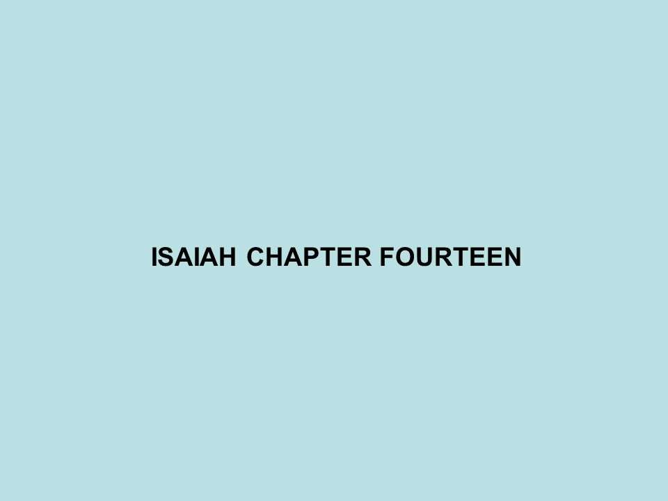 QUESTIONS:ISAIAH 14:9-11 9 Hell from beneath is excited about you, To meet you at your coming; It stirs up the dead for you, All the chief ones of the earth; It has raised up from their thrones All the kings of the nations.