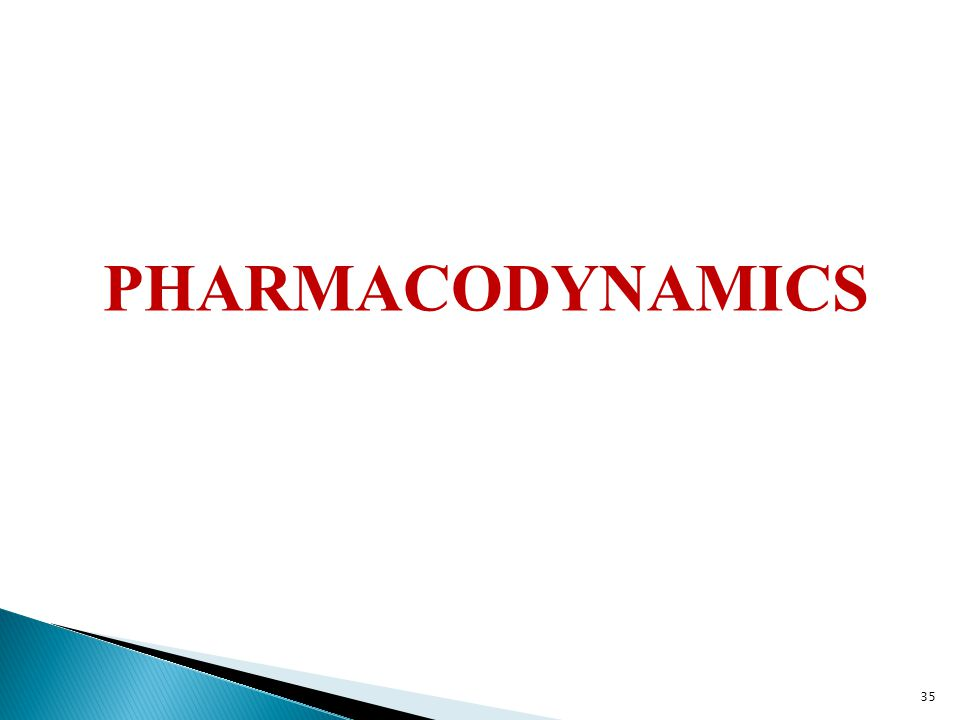 PHARMACODYNAMICS 35