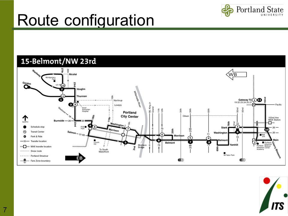 Route configuration 7