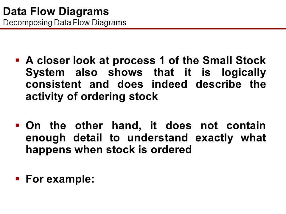 Data Flow Diagrams Decomposition