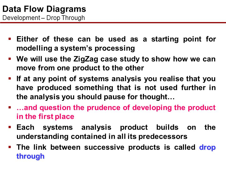  As with many systems analysis products there is no fixed way of producing a model (if indeed we decide to produce the said model in the first place!