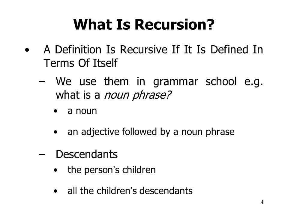 5 What Is Recursion.