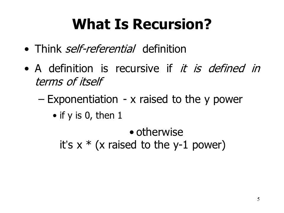 16 Next: Time Complexity and Recursion Recursion vs.