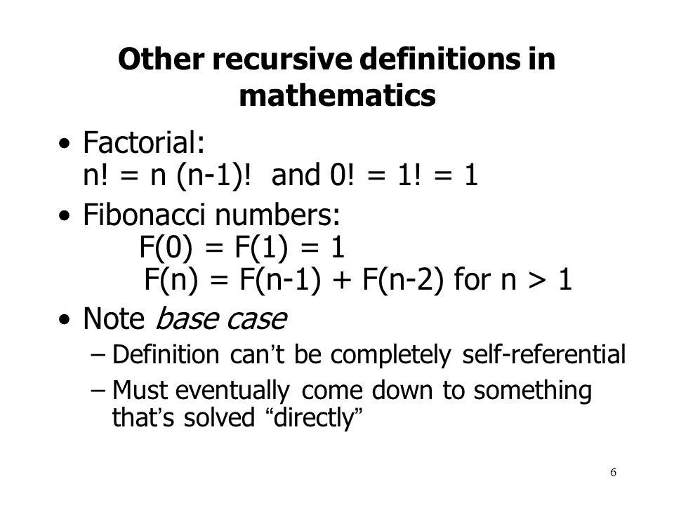 17 Recursion vs.